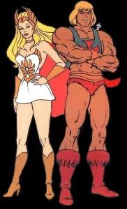 A veces cuando nacen gemelos, la repartición de genes es muy desigual... Y SHe-Ra es mas inteligente que hermano He-Man...